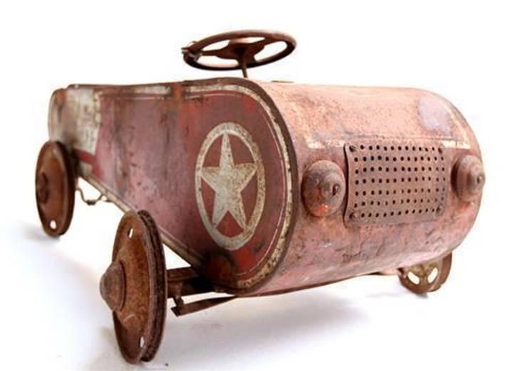 Rare Vintage Pedal Car:  Interior landscaping by Vintage Archive