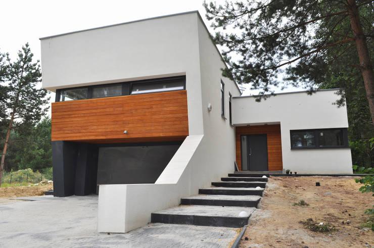 Dom w Rybniku: styl , w kategorii Domy zaprojektowany przez STRUKTURA Łukasz Lewandowski,Nowoczesny