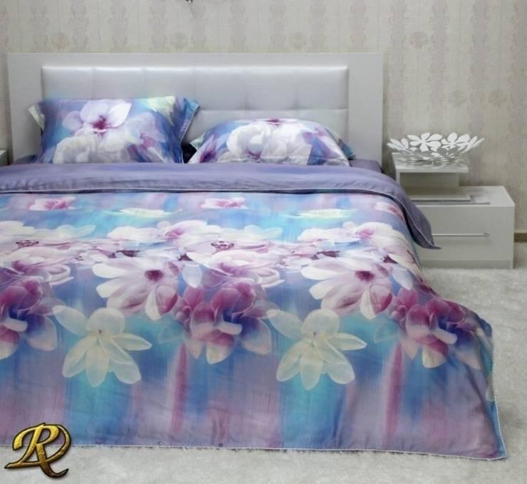 Blue Magnolia Organic Tencel (100% wood pulp):  Bedroom by Roxyma Dream UK