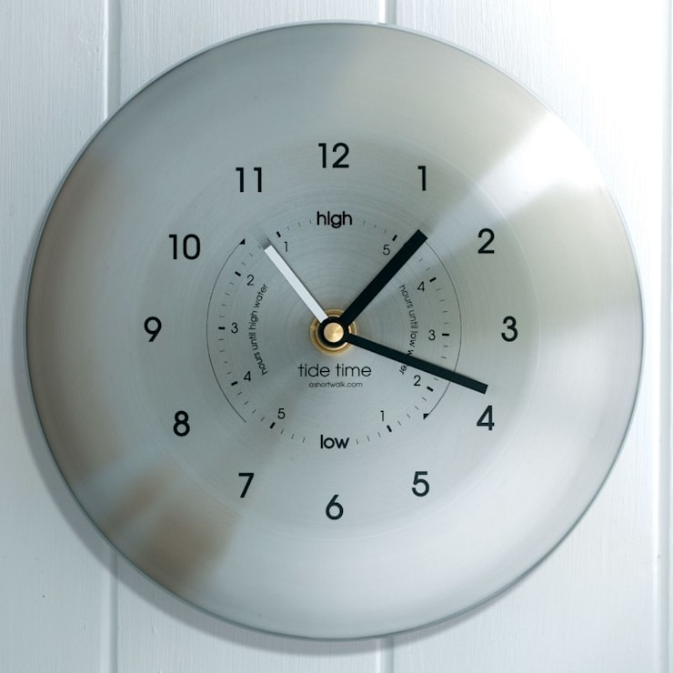 Time & Tide Clock - Stainless:  Living room by ashortwalk