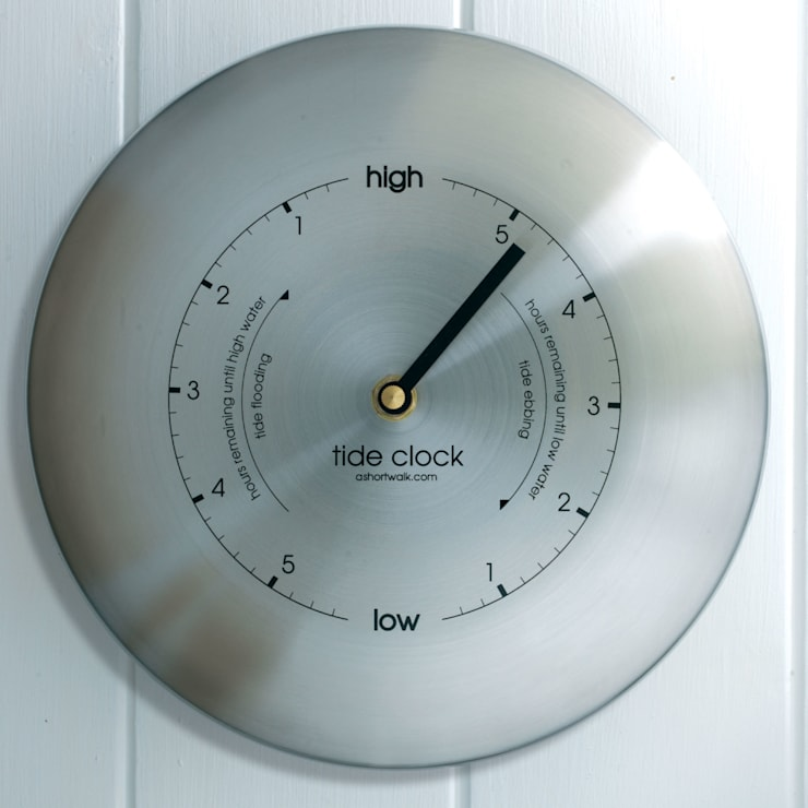 Tide Clock - Stainless:  Living room by ashortwalk