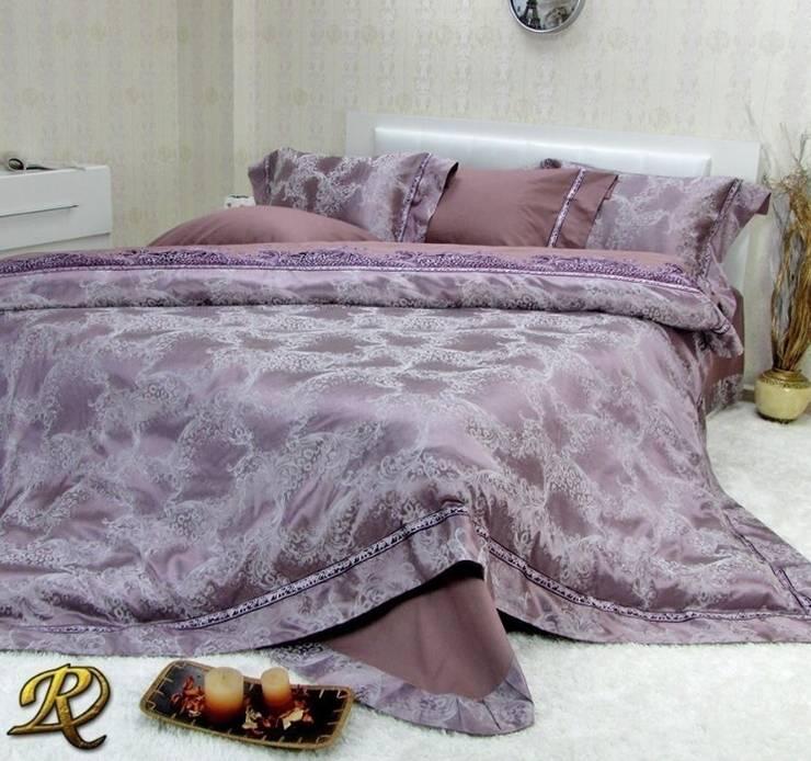 Purple Ksenia Cotton Sateen Jacquard & Lace:  Bedroom by Roxyma Dream UK