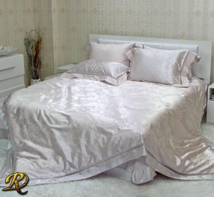 Cream Tiara Cotton Sateen Jacquard & Lace:  Bedroom by Roxyma Dream UK