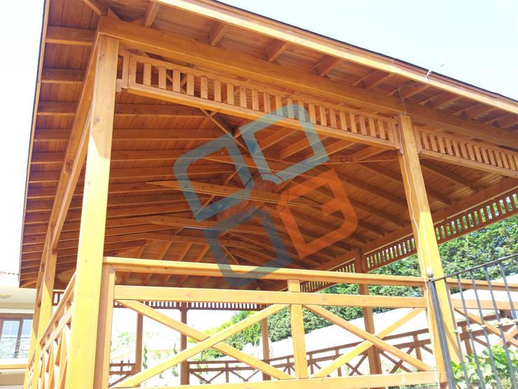GNC Ahşap Tasarım Orman Ürn. Mimarlık ve Peyzaj San. Tic Ltd. Şti. – Ahşap Kameriye:  tarz Bahçe