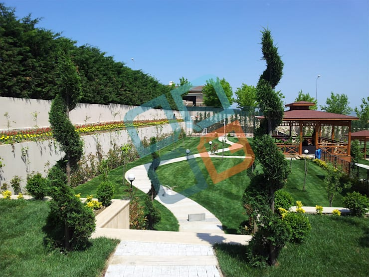 Сад в стиле модерн от GNC Ahşap Tasarım Orman Ürn. Mimarlık ve Peyzaj San. Tic Ltd. Şti. Модерн