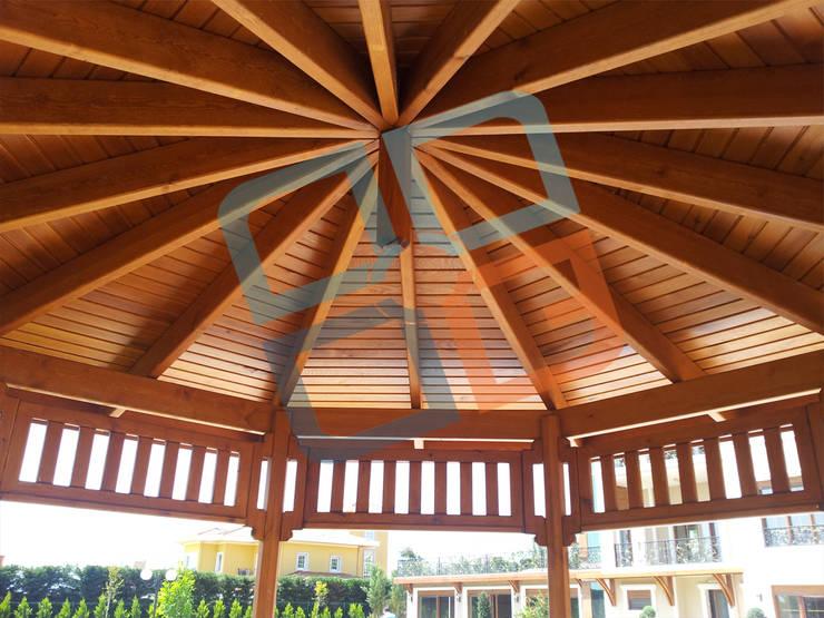 GNC Ahşap Tasarım Orman Ürn. Mimarlık ve Peyzaj San. Tic Ltd. Şti. – Ahşap Kameriye Çatısı:  tarz Bahçe