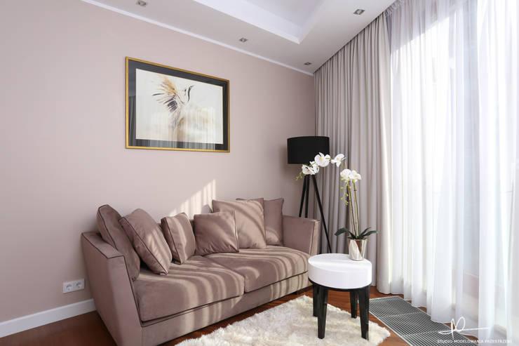 Pokój gościnny: styl , w kategorii Salon zaprojektowany przez Studio Modelowania Przestrzeni,Nowoczesny