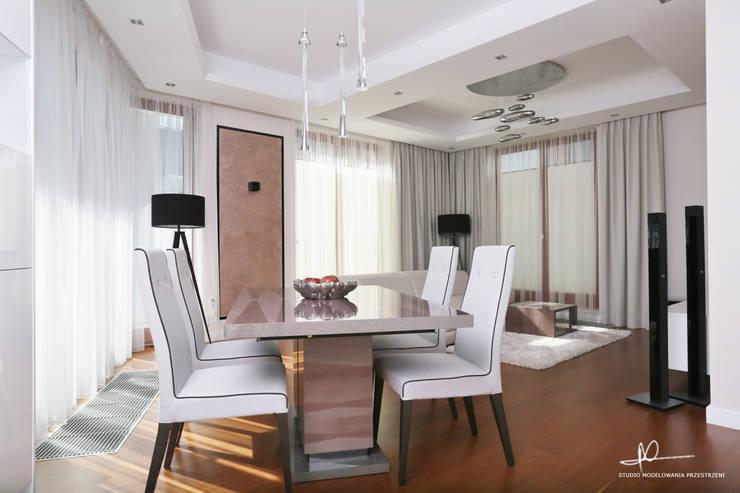 apartament w centrum miasta: styl , w kategorii Jadalnia zaprojektowany przez Studio Modelowania Przestrzeni,Nowoczesny