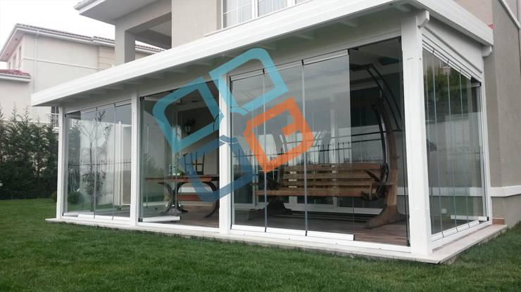 Modern conservatory by GNC Ahşap Tasarım Orman Ürn. Mimarlık ve Peyzaj San. Tic Ltd. Şti. Modern