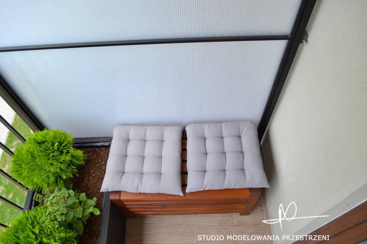 taras: styl , w kategorii Taras zaprojektowany przez Studio Modelowania Przestrzeni