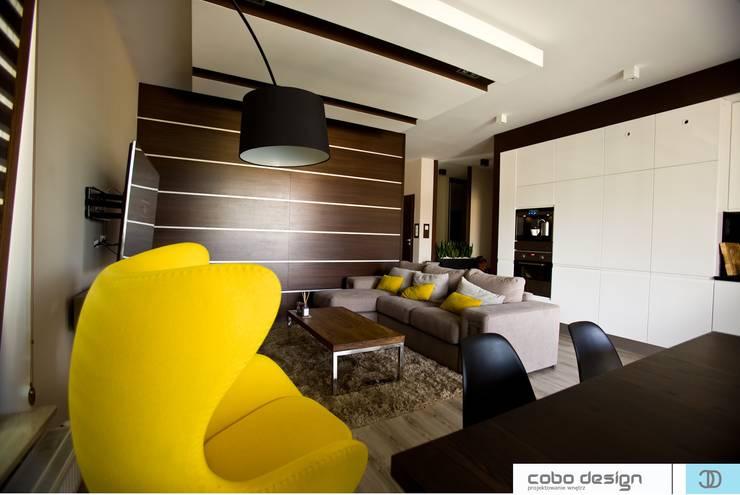 Caffe Latte: styl , w kategorii Salon zaprojektowany przez Cobo Design,Nowoczesny