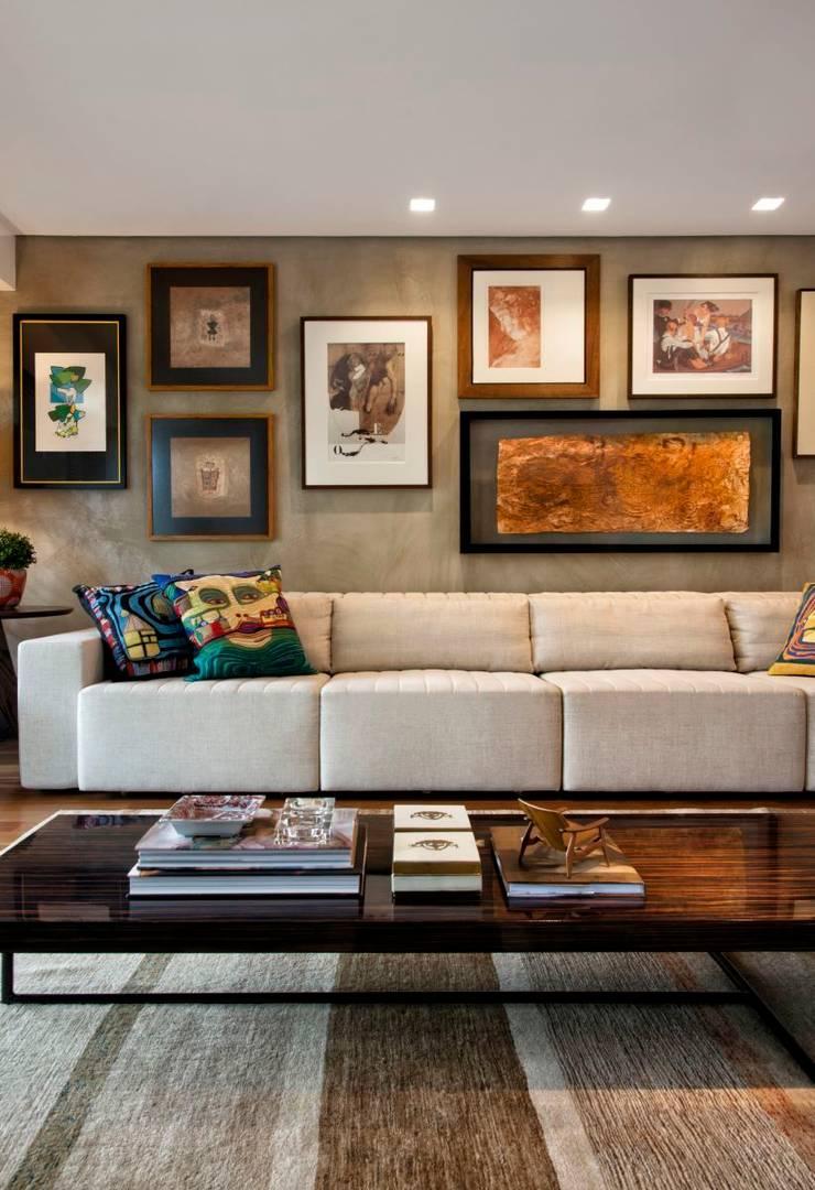 Projeto Casa Moderna - Jorge Elmor: Salas de estar  por Elmor Arquitetura,