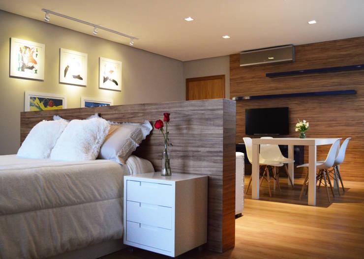 Спальни в . Автор – Boa Arquitetura