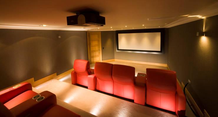 Cinema Room: modern Media room by Prestigeaudio - Smart Home Designers