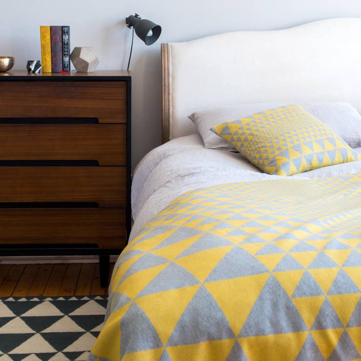 Isosceles Cushion (Gold/Grey):  Bedroom by Niki Jones