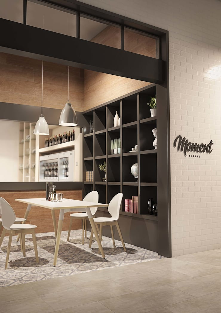 Moment Italian Café:  Dining room by Gresham Office Furniture