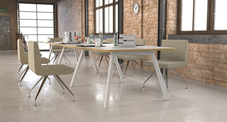 Moment Steel Leg:  Office spaces & stores  by Gresham Office Furniture