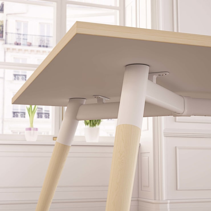 Moment Wooden Leg :  Dining room by Gresham Office Furniture