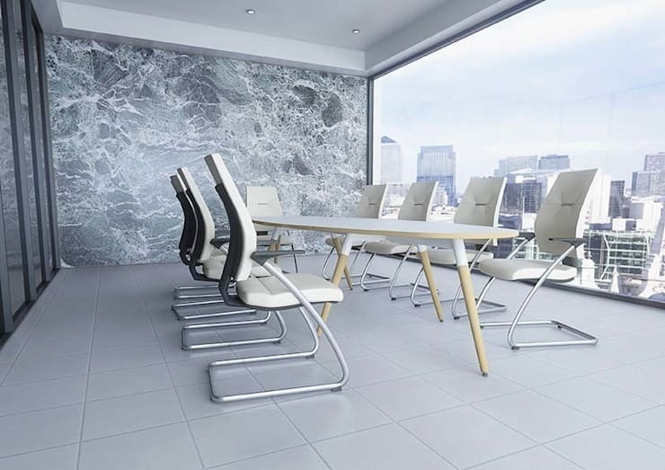 Moment Boardroom:  Office spaces & stores  by Gresham Office Furniture