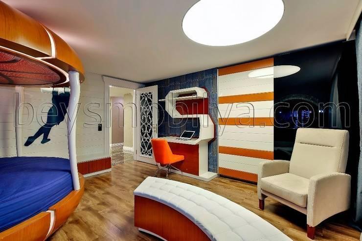 Akabe Mobilya San ve Tic. Ltd. Şti – Basket Genç Odası Tasarımı (kişiye özel ev dekorasyonu istanbul):  tarz Çocuk Odası, Minimalist