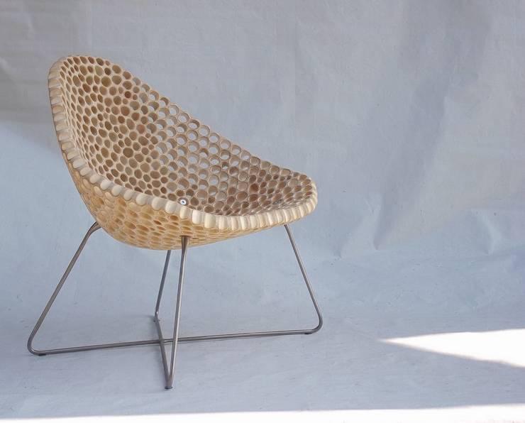 FLÖHR-Stuhl LIAM Rundstahlgestell: minimalistische Wohnzimmer von flöhrdesign