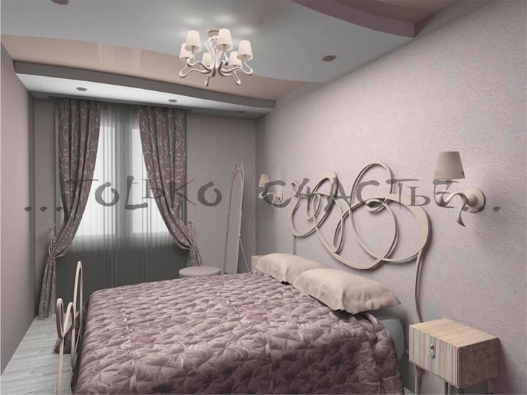 дизайн интерьера: Спальни в . Автор – Бюро дизайна 'Только счастье...'