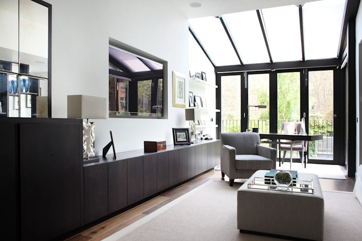 Fulham House by Peek Architecture.: modern Living room by Alex Maguire Photography