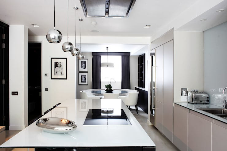 Fulham House by Peek Architecture.: modern Kitchen by Alex Maguire Photography