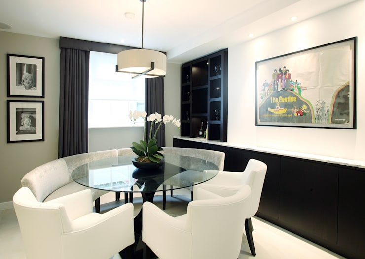 Fulham House by Peek Architecture.: modern Dining room by Alex Maguire Photography