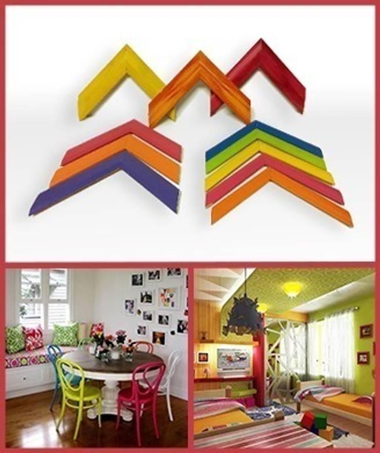 Molduras de cores: Casa  por Autovidreira