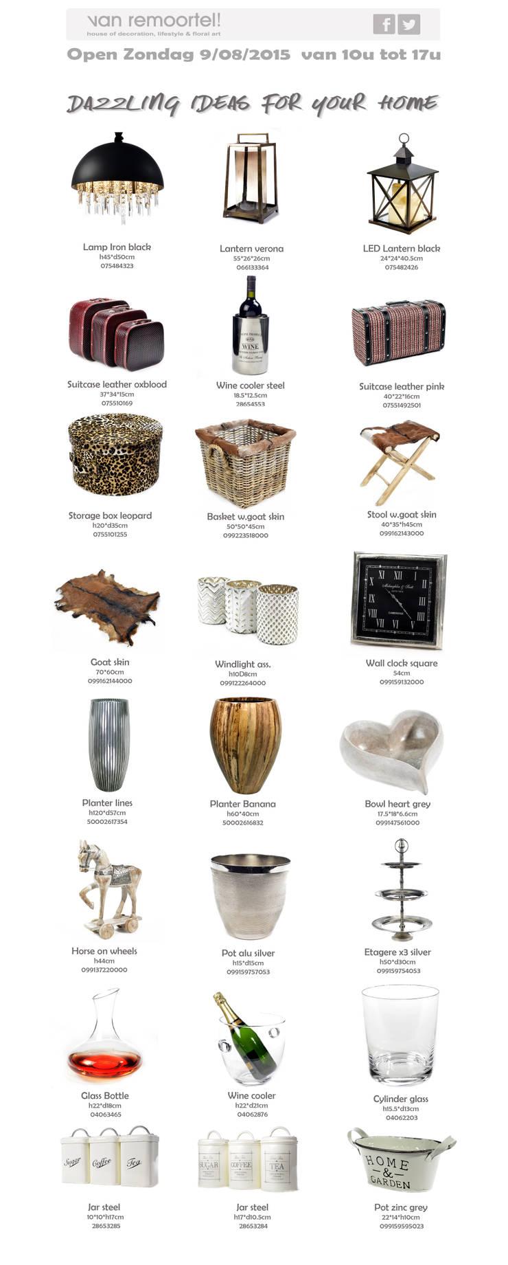   Dazzling Ideas for your Home:  Eetkamer door Groothandel in decoratie en lifestyle artikelen
