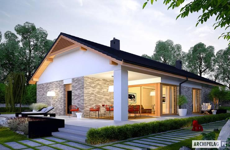 Projekt domu Daniel G2 : styl , w kategorii Domy zaprojektowany przez Pracownia Projektowa ARCHIPELAG,