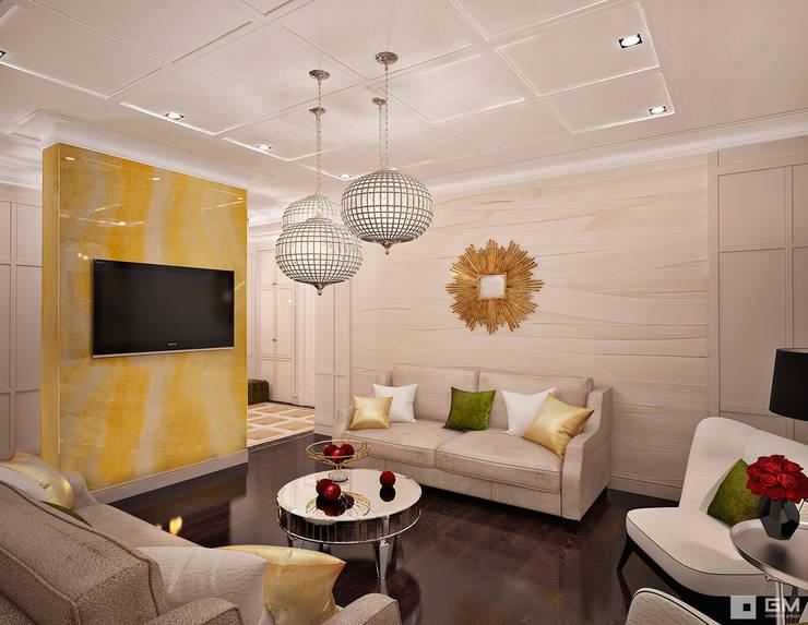Дизайн интерьера 2-х комнатной квартиры : Гостиная в . Автор – GM-interior,