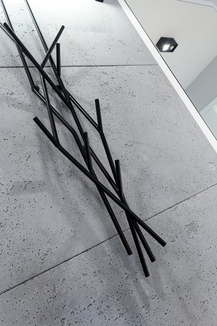 Płyty betonowe Contractors: styl , w kategorii Korytarz, przedpokój zaprojektowany przez Contractors