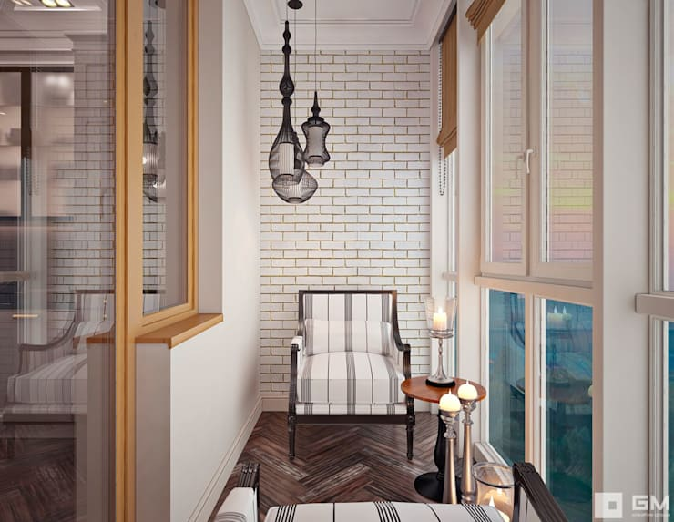 Дизайн интерьера 2-х комнатной квартиры : Tерраса в . Автор – GM-interior,