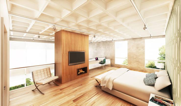 Salas / recibidores de estilo  por Boa Arquitetura