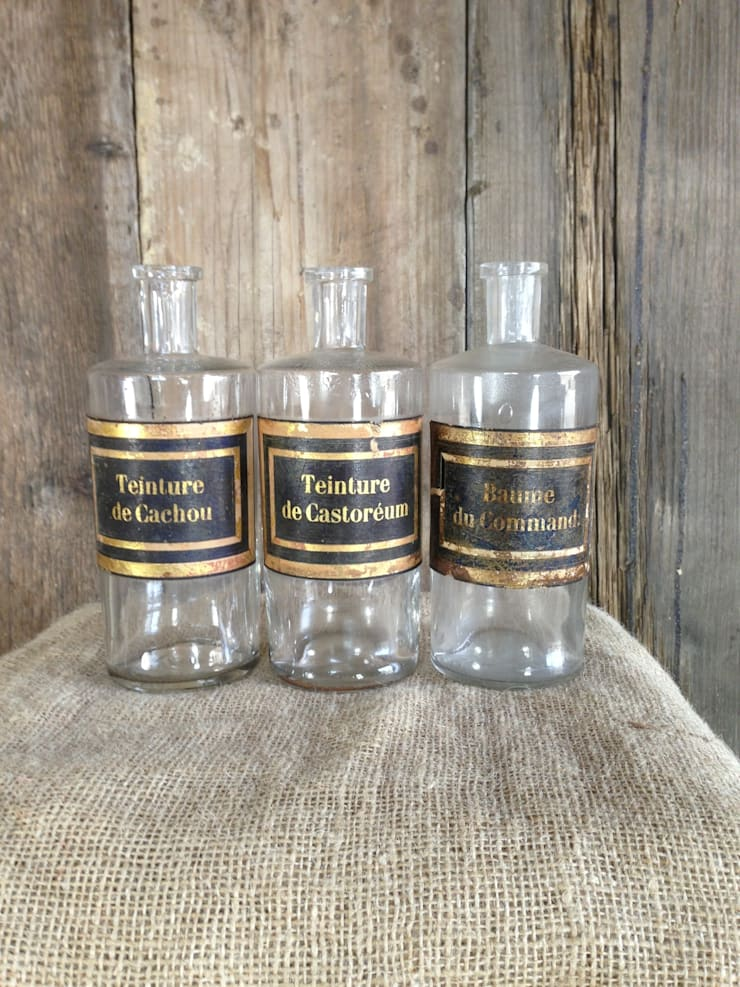 Antique Pharmacy Bottles:  Bathroom by Sugden and Daughters