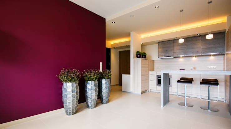 Anna Buczny PROJEKTOWANIE WNĘTRZ  Apartament: styl , w kategorii Kuchnia zaprojektowany przez Anna Buczny PROJEKTOWANIE WNĘTRZ,Nowoczesny