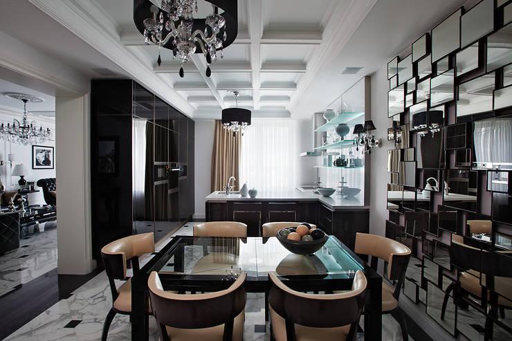 Кухня-столовая.:  в . Автор – архитектор Виктория Тажетдинова