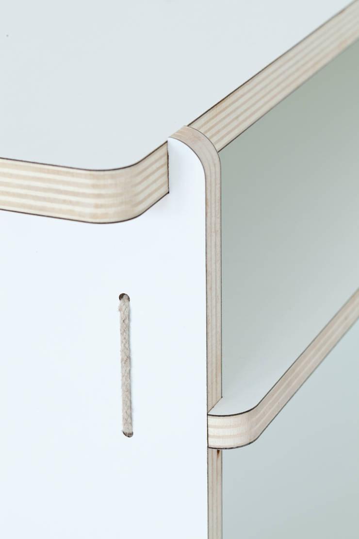 Detail Desk:  Studeerkamer/kantoor door Studio Toon Welling