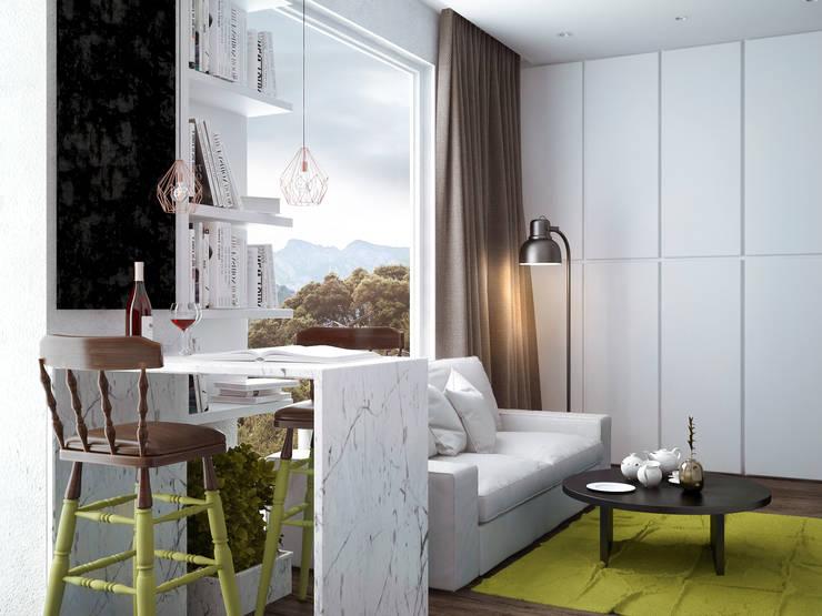 Living room2: Гостиная в . Автор – PRO-DESIGN, Скандинавский