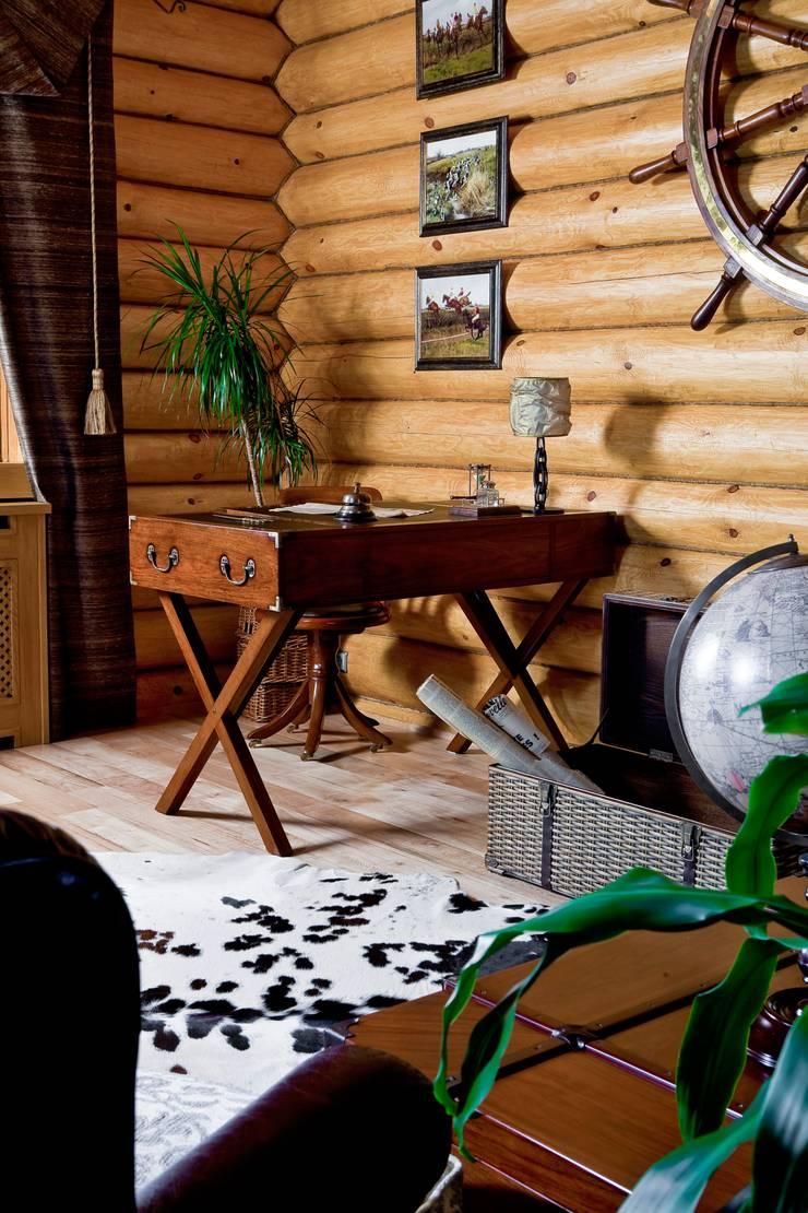 Salas de estilo rústico de Amazing Studio Светланы Панариной Rústico