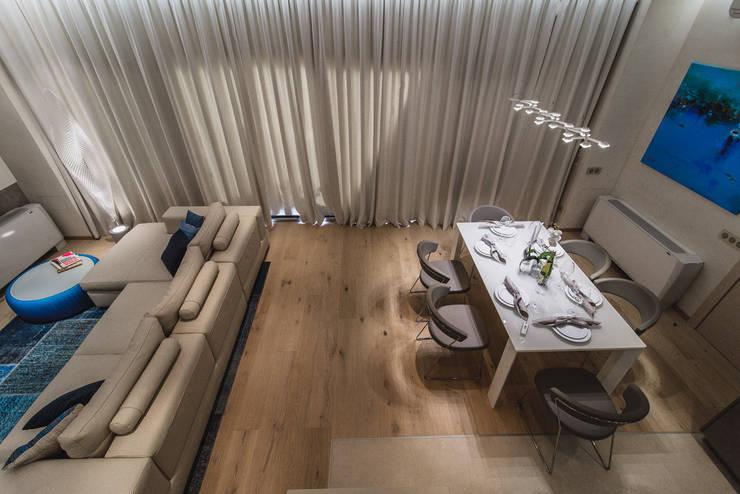 Квартира Бухта Мечты: Столовые комнаты в . Автор – INCUBE Алексея Щербачёва