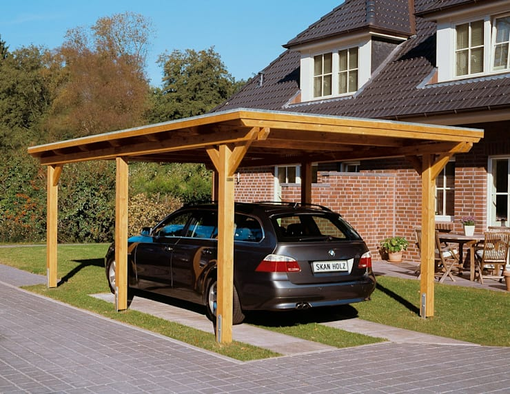 moderne Garage/Schuppen von HMG Benelux