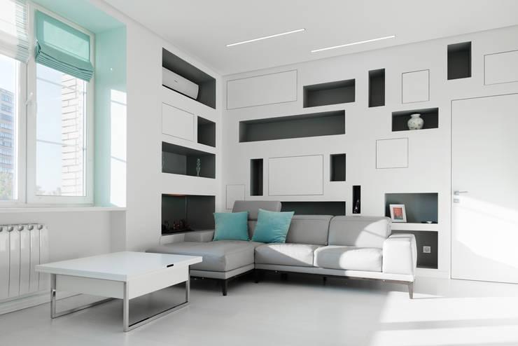 Квартира на Мосфильме: Гостиная в . Автор – Kerimov Architects