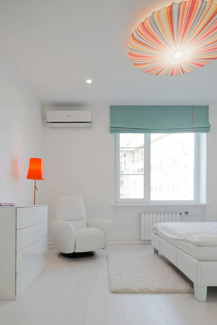 Квартира на Мосфильме: Спальни в . Автор – Kerimov Architects