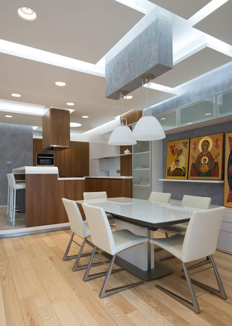 Квартира на Западе Москвы: Столовые комнаты в . Автор – Kerimov Architects, Минимализм