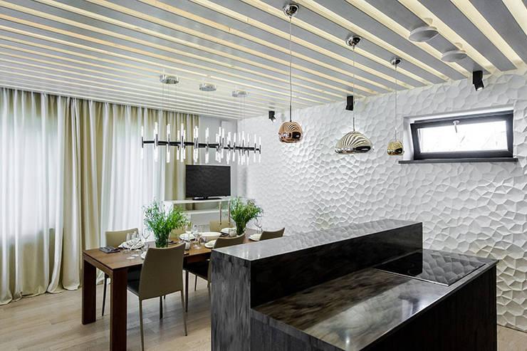 Кухня в загородном доме: Кухни в . Автор – Kerimov Architects,