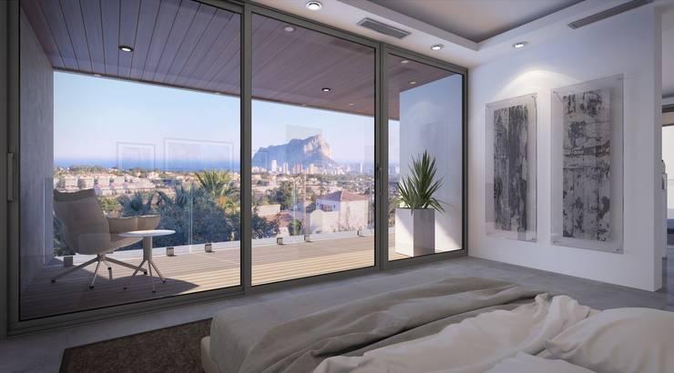 Dormitorios de estilo  por PGK Studios