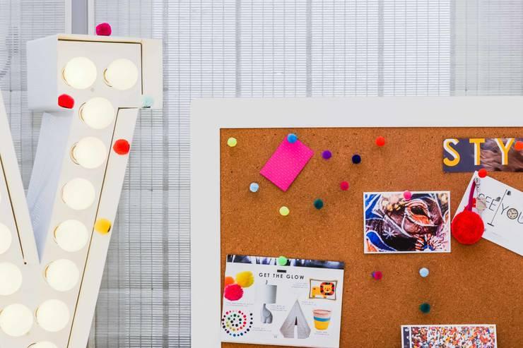 Pom pom push pins:  Study/office by PomPom Galore